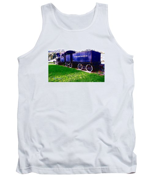 Tank Top featuring the photograph Locomotive Steam Engine by Sadie Reneau