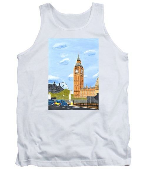 Tank Top featuring the painting London England Big Ben  by Magdalena Frohnsdorff