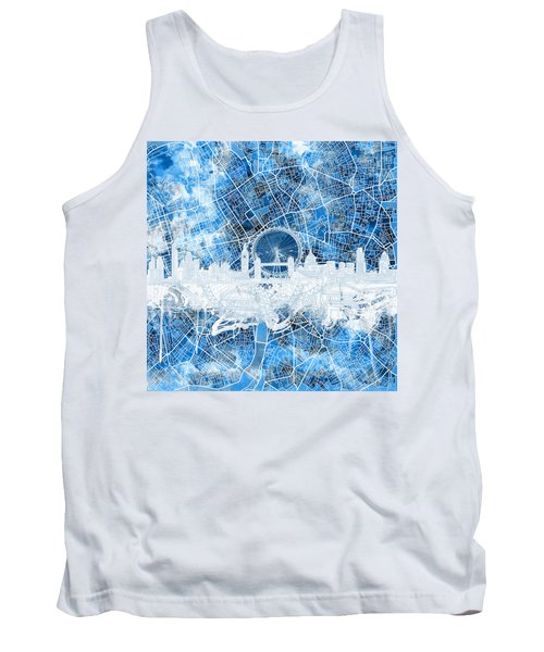 London Skyline Abstract 13 Tank Top