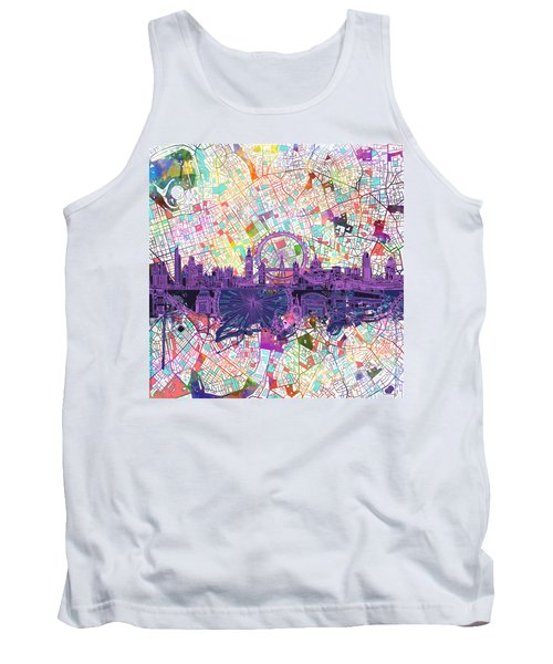 London Skyline Abstract Tank Top