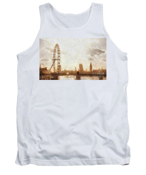 London Skyline At Dusk 01 Tank Top