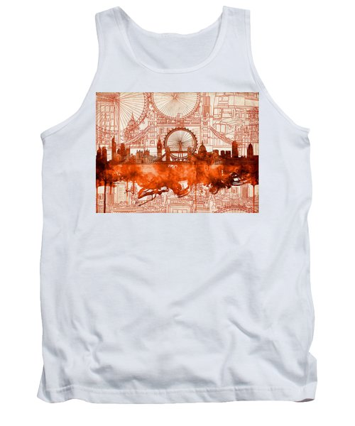 London Skyline Old Vintage 2 Tank Top