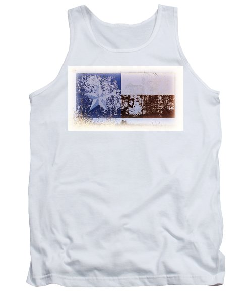 Tank Top featuring the photograph Lone Star Flag Mural by Nadalyn Larsen