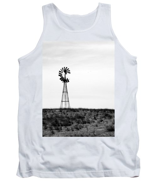 Tank Top featuring the photograph Lone Windmill by Cathy Anderson