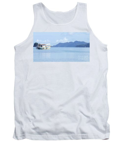 Tank Top featuring the photograph Lonely Boat by Andrea Anderegg