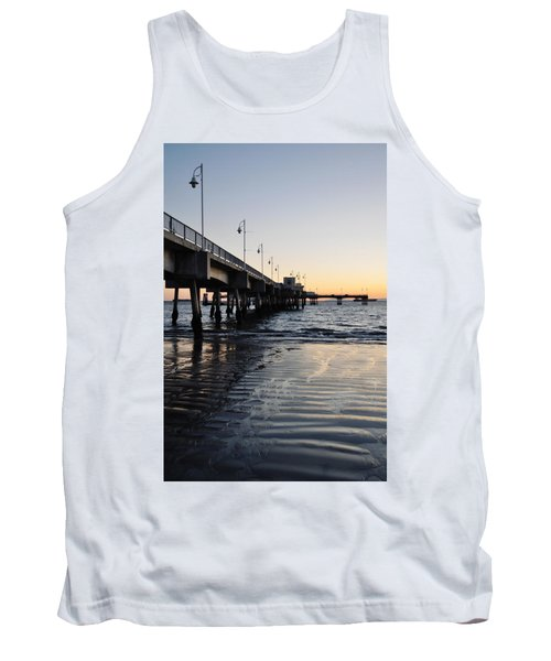 Tank Top featuring the photograph Long Beach Pier by Kyle Hanson