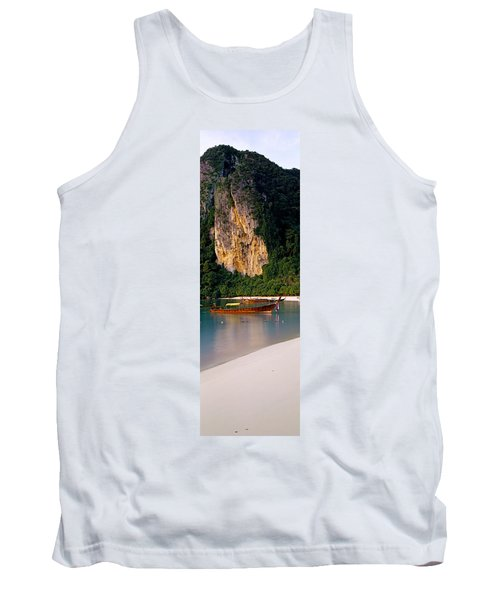 Longtail Boat In Ton Sai Bay, Phi Phi Tank Top
