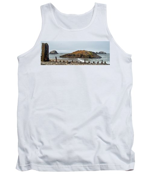 Looking Out On The Pacific Ocean From The Sutro Bath Ruins In San Francisco  Tank Top by Jim Fitzpatrick