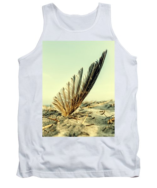 Lost Feather At The Beach Tank Top