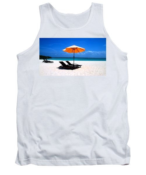 Tank Top featuring the photograph Lounging By The Sea by Joey Agbayani