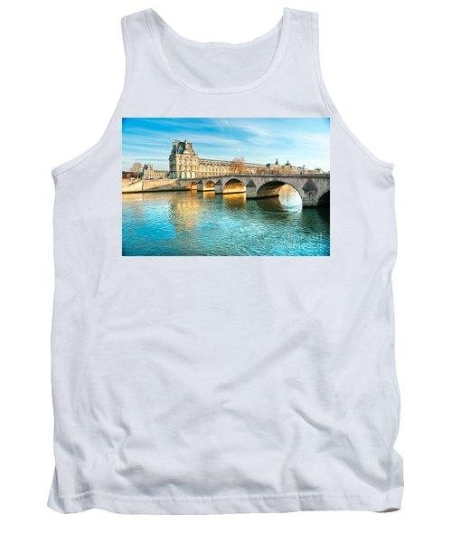 Louvre Museum And Pont Royal - Paris  Tank Top