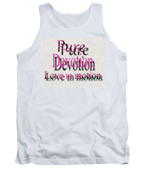 Tank Top featuring the digital art Love In Motion by Catherine Lott