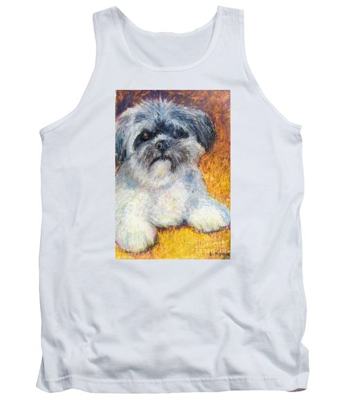 Love My Lhasa Tank Top by Laurie Morgan