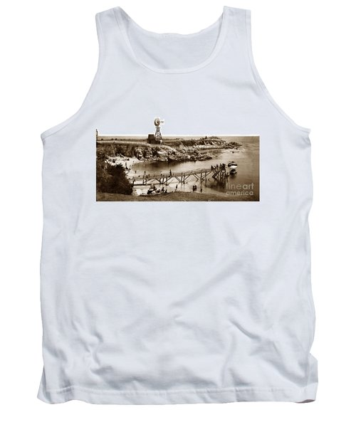 Lovers Point Beach And Old Wooden Pier Pacific Grove August 18 1900 Tank Top