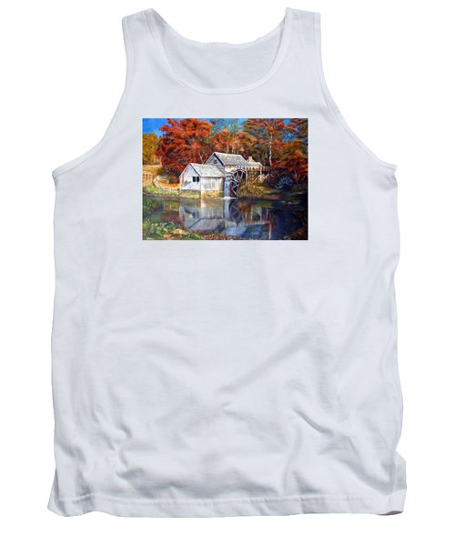 Mabry Mill Blue Ridge Virginia Tank Top by LaVonne Hand