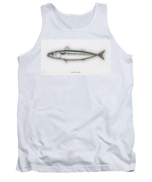 Mackerel Scomber Scombrus  - Maquereau - Caballa - Sarda - Scombro - Makrilli - Seafood Art Tank Top