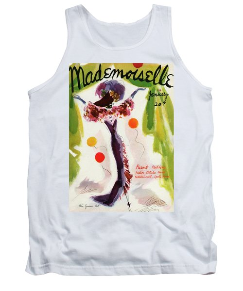 Mademoiselle Cover Featuring A Model Wearing Tank Top