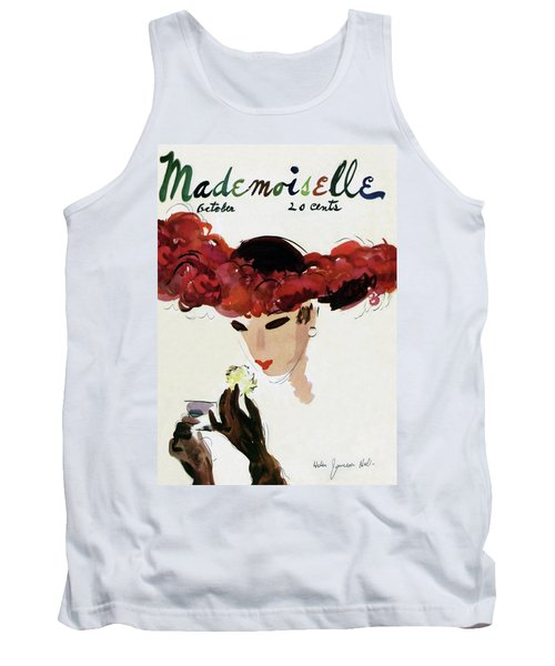 Mademoiselle Cover Featuring A Woman In A Red Tank Top