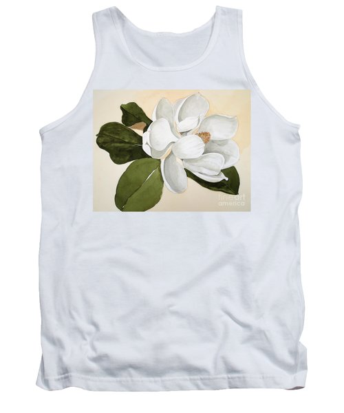 Tank Top featuring the painting Magnolia Bloom by Nancy Kane Chapman