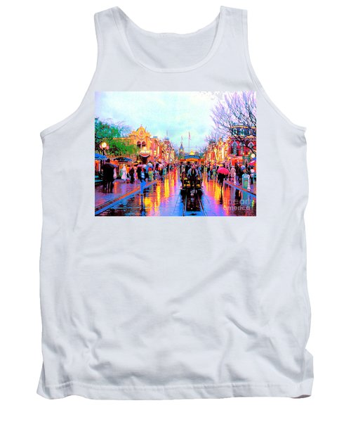 Tank Top featuring the photograph Mainstreet Disneyland by David Lawson