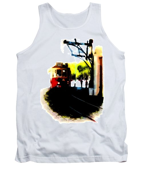 Make Way For The Tram  Tank Top by Steve Taylor