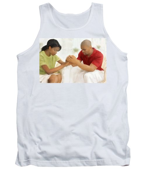 Tank Top featuring the painting Man And Wife Pray by Vannetta Ferguson