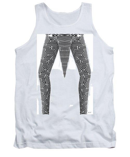 Tank Top featuring the painting Man Maze by Rafael Salazar