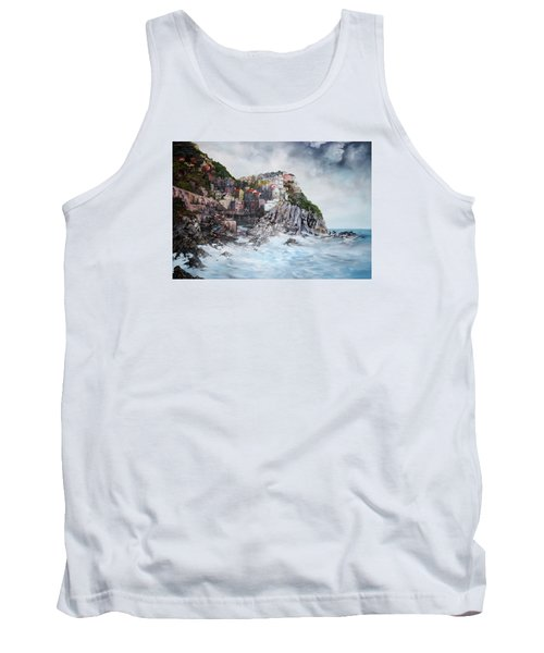 Tank Top featuring the painting Manarola Italy by Jean Walker