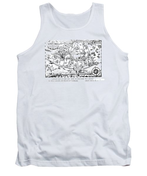 Map Of Fort Ord Army Base Monterey California Circa 1950 Tank Top
