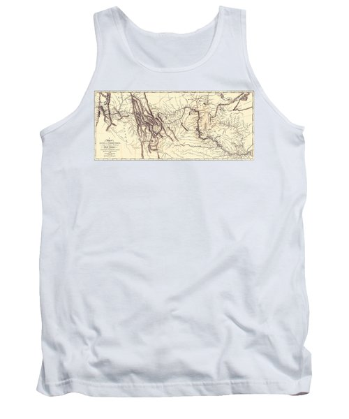 Map Of The Lewis And Clark American Expedition, 1804-1806, Published 1814 Tank Top