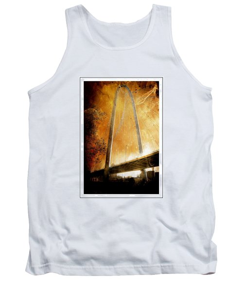 Margaret Hunt Hill Bridge Dallas Texas Tank Top