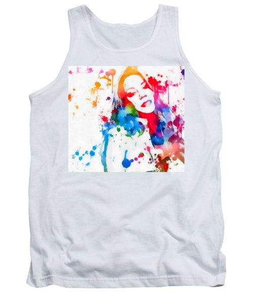 Mariah Carey Watercolor Paint Splatter Tank Top