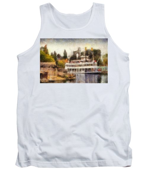 Mark Twain Riverboat Frontierland Disneyland Photo Art 02 Tank Top by Thomas Woolworth