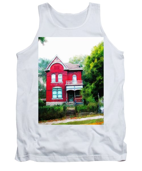 Tank Top featuring the painting Market Street by Dave Luebbert