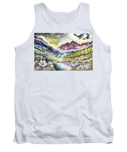 Maroon Bells  Tank Top by Scott and Dixie Wiley