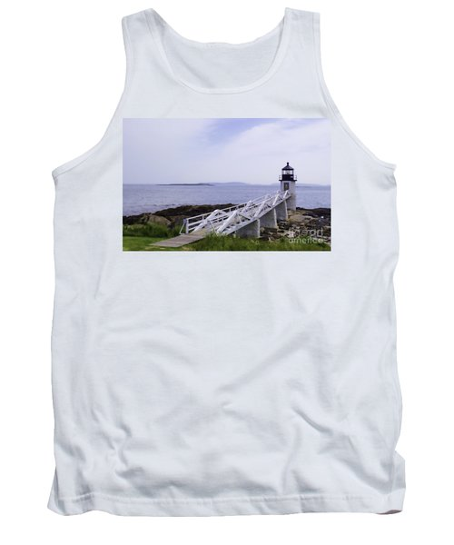 Marshall Point Light 1 Stylized Tank Top by Patrick Fennell
