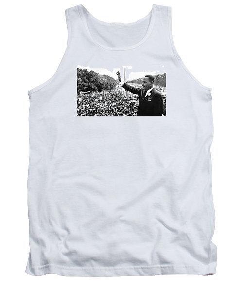 Martin Luther King The Great March On Washington Lincoln Memorial August 28 1963-2014 Tank Top by David Lee Guss