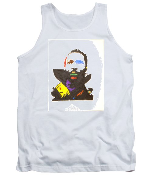 Tank Top featuring the painting Marvin Gaye by Stormm Bradshaw