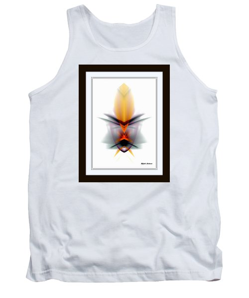 Tank Top featuring the mixed media Mask by Rafael Salazar
