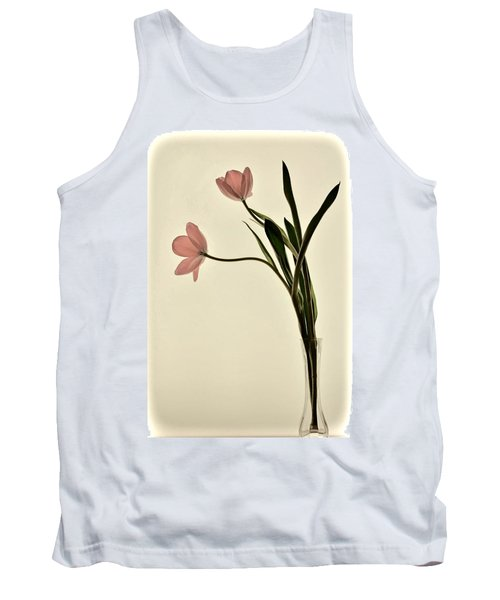 Mauve Tulips In Glass Vase Tank Top