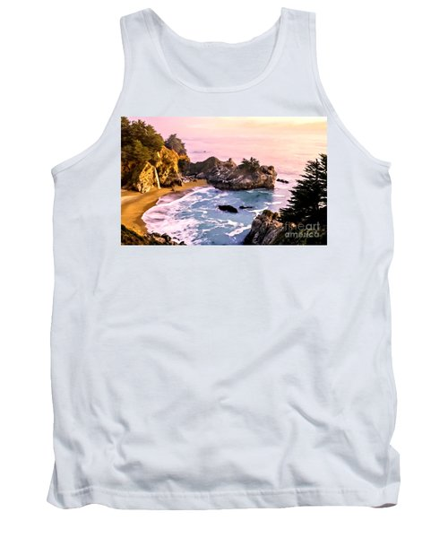 Mcway Falls Pacific Coast Tank Top by Bob and Nadine Johnston