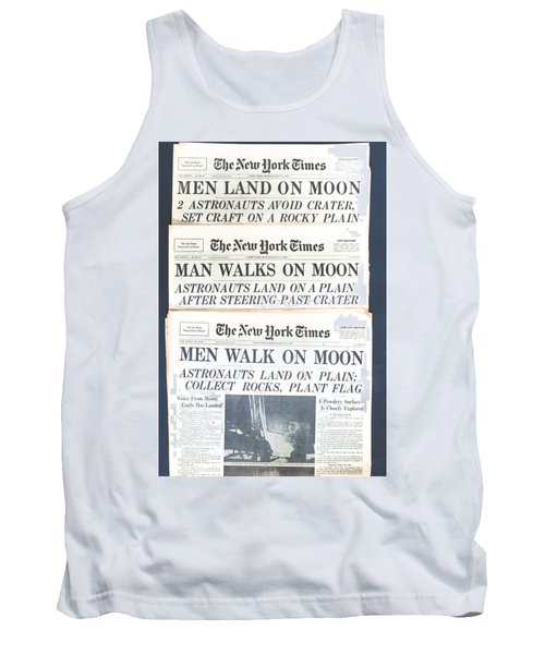 Men Walk On The Moon Tank Top by Kenneth Cole