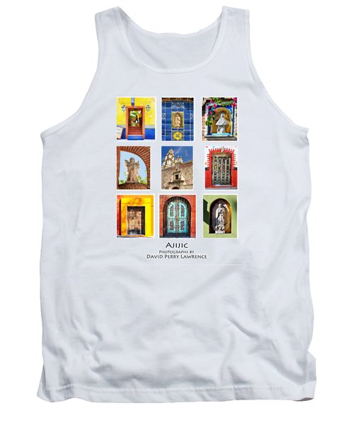 Tank Top featuring the photograph Colorful Mexican Doors, Ajijic Mexico - Travel Photography By David Perry Lawrence by David Perry Lawrence