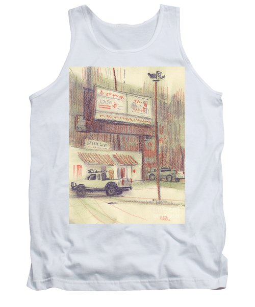 Tank Top featuring the painting Mexican Take Out by Donald Maier