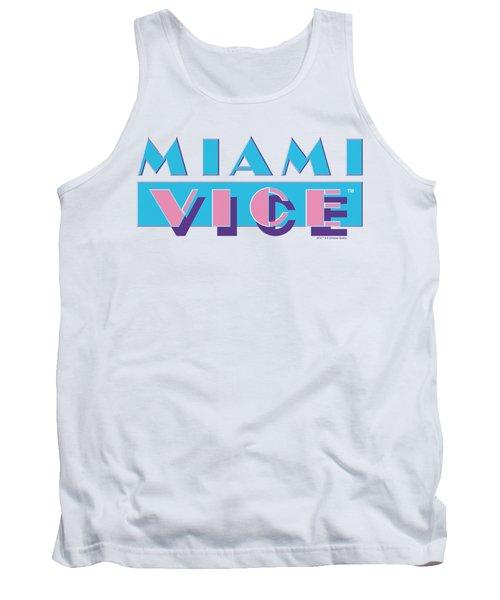 Miami Vice - Logo Tank Top