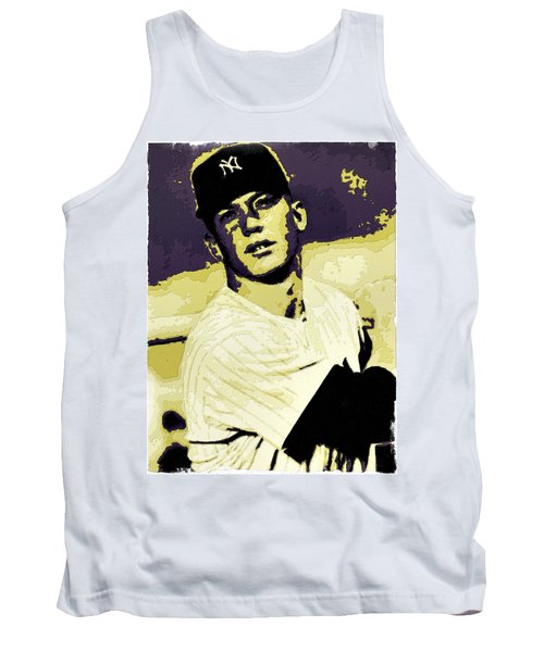 Mickey Mantle Poster Art Tank Top