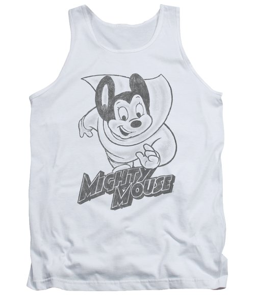 Mighty Mouse - Mighty Sketch Tank Top