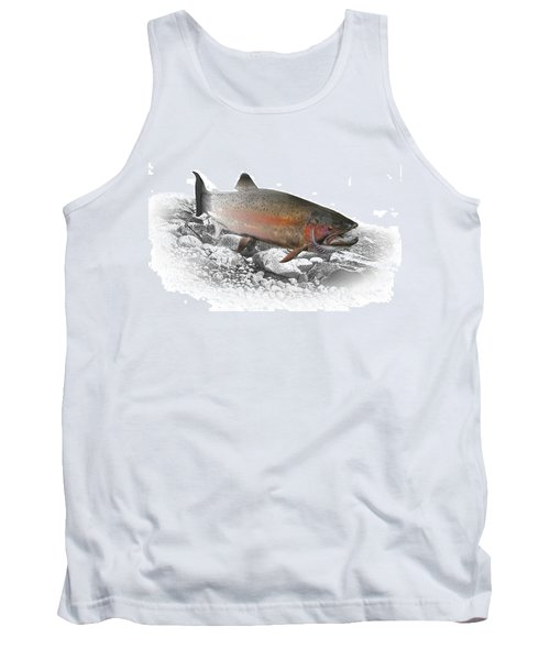 Migrating Steelhead Rainbow Trout Tank Top by Randall Nyhof
