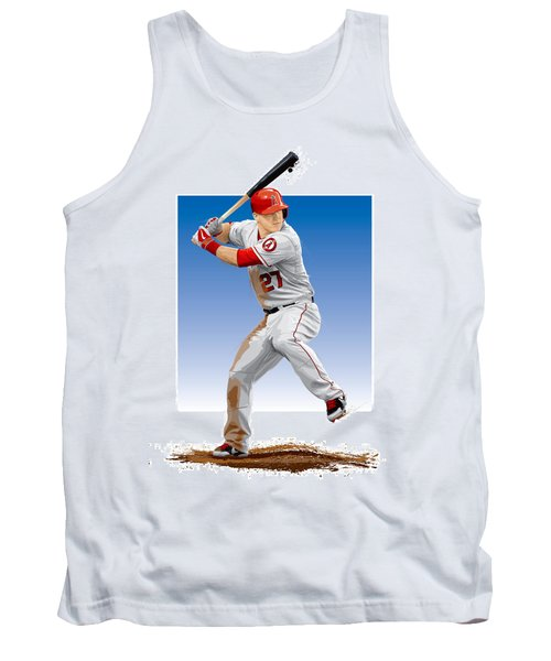 Tank Top featuring the digital art Mike Trout by Scott Weigner