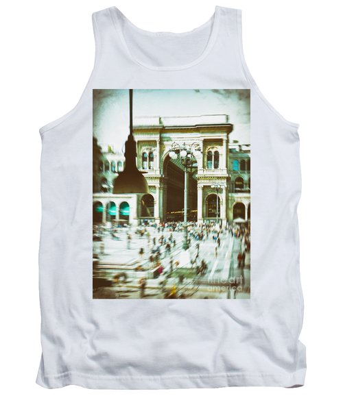 Tank Top featuring the photograph Milan Gallery by Silvia Ganora